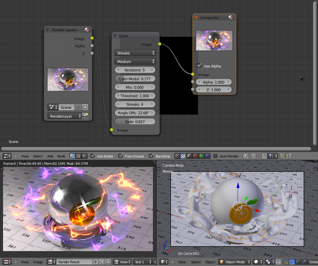 Compositing materiale Plasma per Cycles